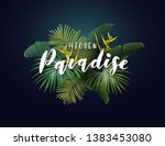 summer tropical vector design... | Shutterstock .eps vector #1383453080
