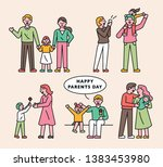 happy family concept character...   Shutterstock .eps vector #1383453980