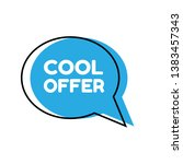cool offer sign  emblem  label  ...