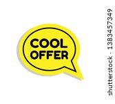 cool offer sign  emblem  label  ...
