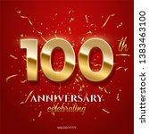 100 golden numbers and... | Shutterstock .eps vector #1383463100