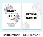 wedding invitation  thank you... | Shutterstock .eps vector #1383465920