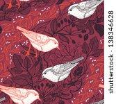 vector floral seamless pattern... | Shutterstock .eps vector #138346628