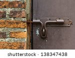 steel lock handle of the steel... | Shutterstock . vector #138347438