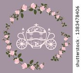 decorative brougham. wedding... | Shutterstock .eps vector #1383478406
