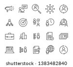 set of job seach icons  such as ... | Shutterstock .eps vector #1383482840
