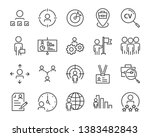 set of job seach icons  such as ... | Shutterstock .eps vector #1383482843