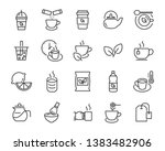 set of coffee icons  such as... | Shutterstock .eps vector #1383482906