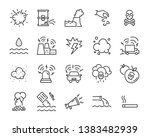 set of pollution icons  such as ... | Shutterstock .eps vector #1383482939