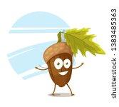 acorn nut funny vector character | Shutterstock .eps vector #1383485363