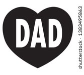 dad in heart icon on white...