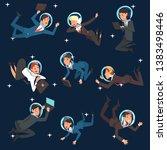 business people in astronaut...   Shutterstock .eps vector #1383498446