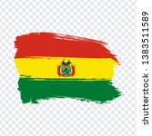 flag of bolivia from brush...