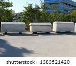 ancient stone coffins in plato... | Shutterstock . vector #1383521420