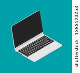 laptop isometric icon. vector... | Shutterstock .eps vector #1383523253