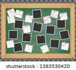 investigation  evidence board.... | Shutterstock .eps vector #1383530420