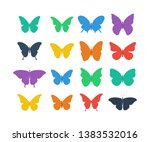 colorful butterflies collection.... | Shutterstock .eps vector #1383532016