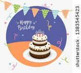 happy birthday party greeting... | Shutterstock .eps vector #1383545423