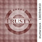 trusty red emblem or badge with ... | Shutterstock .eps vector #1383546410