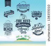 retro elements for summer... | Shutterstock .eps vector #138355010