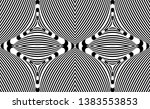 seamless pattern with hypnotic...   Shutterstock .eps vector #1383553853