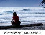 surfing at duranbah  nsw ... | Shutterstock . vector #1383554033