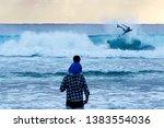 surfing at duranbah  nsw ... | Shutterstock . vector #1383554036