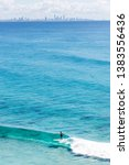 surfer silhouette gold coast ... | Shutterstock . vector #1383556436