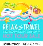 hot vacation design template.... | Shutterstock .eps vector #1383576743