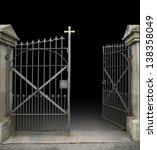 Entrance Of A Graveyard With A...