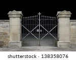 entrance of a graveyard with a... | Shutterstock . vector #138358076
