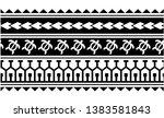 tribal pattern tattoo ... | Shutterstock .eps vector #1383581843