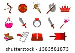 collection of cartoon weapons....   Shutterstock .eps vector #1383581873