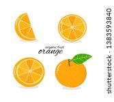orange fruit isolated on white... | Shutterstock .eps vector #1383593840