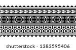 tribal samoan aboriginal tattoo ... | Shutterstock .eps vector #1383595406