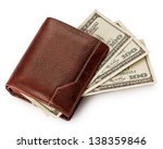 Purse With Money Isolated On...