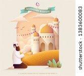 ramadan kareem prayer and... | Shutterstock .eps vector #1383600083