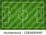 football field or soccer field...   Shutterstock . vector #1383600440