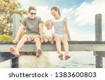 happy family mother  child ... | Shutterstock . vector #1383600803