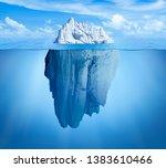Iceberg In Ocean. Hidden Threa...