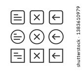 ui set of navigation buttons....