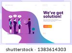 vector web page design template ...   Shutterstock .eps vector #1383614303