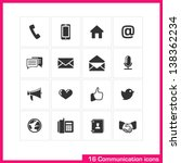 communication icon set. vector...