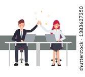 teamwork business people... | Shutterstock .eps vector #1383627350