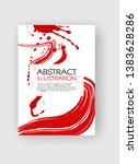ink brush stroke background.... | Shutterstock .eps vector #1383628286