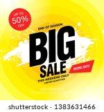 big sale banner layout design ... | Shutterstock .eps vector #1383631466