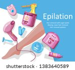epilation  depilation. template ... | Shutterstock .eps vector #1383640589