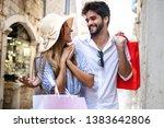consumerism  love  dating ... | Shutterstock . vector #1383642806