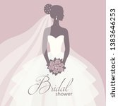 bride in a wedding dress ... | Shutterstock .eps vector #1383646253