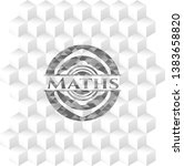 maths grey badge with geometric ...   Shutterstock .eps vector #1383658820